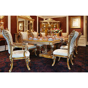 2017 High quality antique wooden furniture dining room set