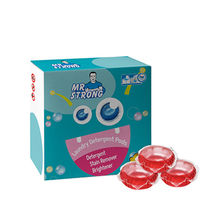 Super clean laundry pods washing capsules with high fragrance 30 pods/box