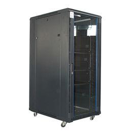"""China 19"""" glass door floor standing network cabinet"""