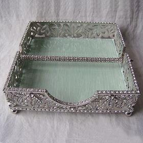 Crystals Jeweled Metal Napkin Holder from China (mainland)