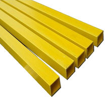 China Yellow Fiberglass Square Pipe