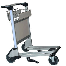China Stainless steel airport hand luggage trolley