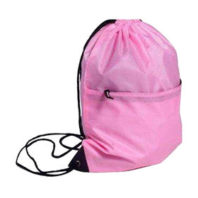 China Polyester drawstring bag