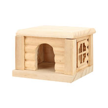 Pet activity room mini nature wooden pet house toy from China (mainland)