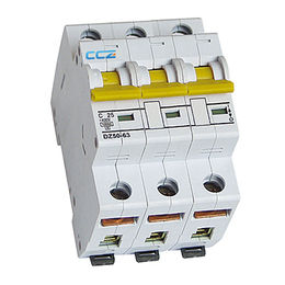 DZ50-63 Series Miniature Circuit Breaker, CE and IEC 1-63A 10KA 3P