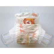 Disposable baby diaper, soft non-woven top sheet with good absorption, wetness indicator