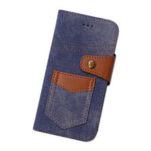Denim pocket phone case with card slot for Samsung from Guangzhou Kymeng Electronic Technology Co., Ltd