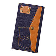 Denim wallet phone case for Lenovo from Guangzhou Kymeng Electronic Technology Co., Ltd