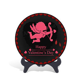 Home Decorative Cupid Arrow Valentine's Day Gift Plate Activated Carbon Carving Craft