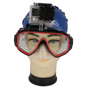 Diving mask, swimming goggles for sport camera mounts