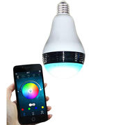 Smart LED bulb Bluetooth speaker, app control light and music, standard E27