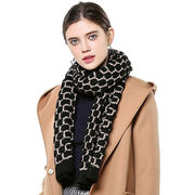 Women's winter Scarf with lurex from Hangzhou Willing Textile Co. Ltd