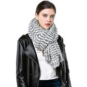 Women's winter Scarf with knitted style from Hangzhou Willing Textile Co. Ltd