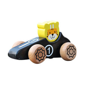 2017 new design tiger shape kids toy wooden cars from China (mainland)