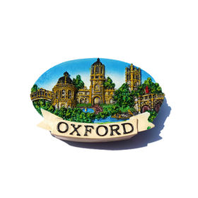 China Oxford University England souvenir Resin 3d Fridge Magnets