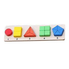 Educational wooden geometric puzzles