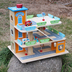 China 2017 new products children's funny wooden parking garage toy W04B049