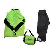 Hong Kong SAR Waterproof Rain Suit Set with Waist Bag, Made of Waterproof Nylon Fabric