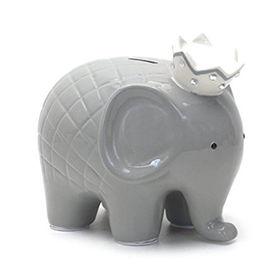 China Ceramic Elephant Saving Box, Grey