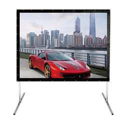 Fast Folded Projection Screen with Aluminium Alloy Case and Nickel Plating Steel without Rust