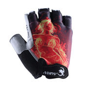 China Half-finger bicycle gloves, made of Lycra and microfiber