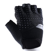 China Half finger bicycle gloves, made of Lycra and microfiber, easy take off design