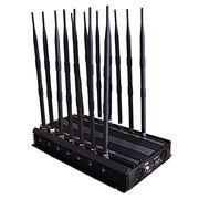 China UHF/VHF Signal Jammer of 14 Antennas, 3G/4G LTE/Wimax Wi-Fi GPS Blocker Walkie-talkie Signal Jammer