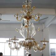 China European art glass chandelier