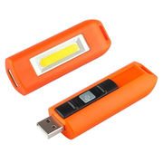 Hong Kong SAR USB Rechargeable Keychain with COB Flash Torch, Made of Durable ABS Housing