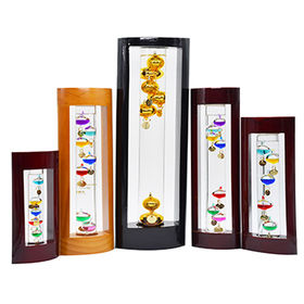 Room Galileo Thermometer, With Wood Stand