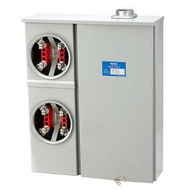 Meter Bank 4 Jaw base 2 stack single phase 200 Amp