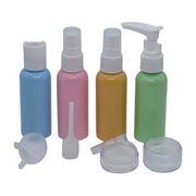 China Plastic Cosmetic Travel Bottle Sets