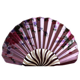 China Hand Held Bamboo Silk Folding Fan