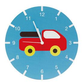 2017 new design cartoon wooden kids wall clock for sale W09D020