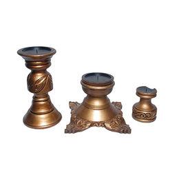 Polished Wooden Candle Holder