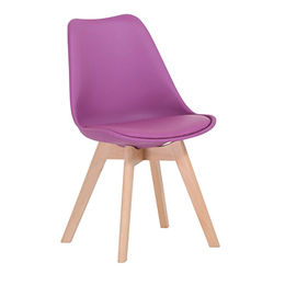 China Tulip chair with solid wooden legs