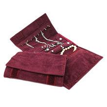 Velvet Jewellery Roll Wrap Organizer