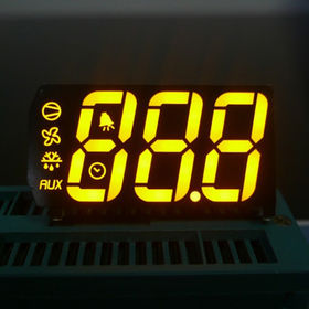 Super Amber Three-Digit 0.67-inch 7-segment LED Display for Refrigerator with RoHS Mark