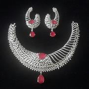 611661fd6 India American Diamond Designer Necklace Set