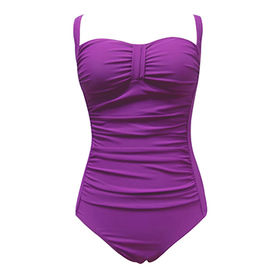 Women one piece swimwear nylon and spandex