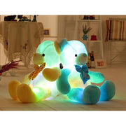 China Colorful LED light soft stuffed plush