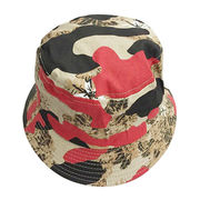 Camouflage Printed Bucket Hats, with High Quality and Competitive Price, Custom Designs are Welcome