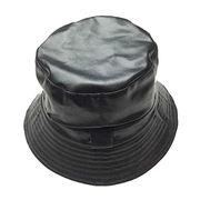 e7d18242ebc China Customized PU Leather Bucket Hats