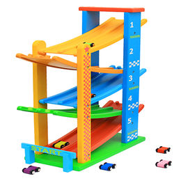 China Children's funny wooden race car track toy