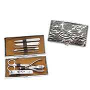 9 Pieces Manicure Set, Stainless Steel Blade and Tools, Packing in PU Leather Case