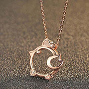 2017 Fashion Zircon Rooster Design Rose Gold Women's 925 Sterling Silver Pendant Necklace from Wenzhou Success Group Ekstar Co. Ltd