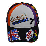 All over embroidery racing cap