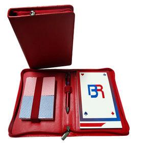 Taiwan Two decks cards, score notepad, ball pen in PU pouch