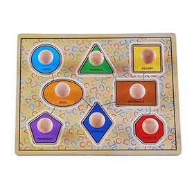 Wooden jumbo knob puzzle