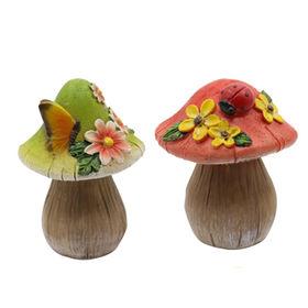 China New Fairy garden Miniature Resin Mushroom